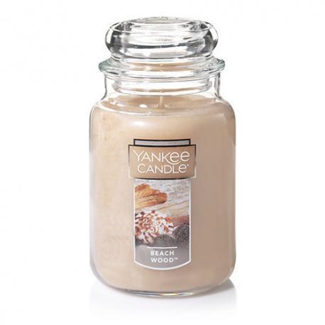 Bougie parfumée Grande jarre 2 mèches BEACH WOOD Yankee Candle exclu US USA