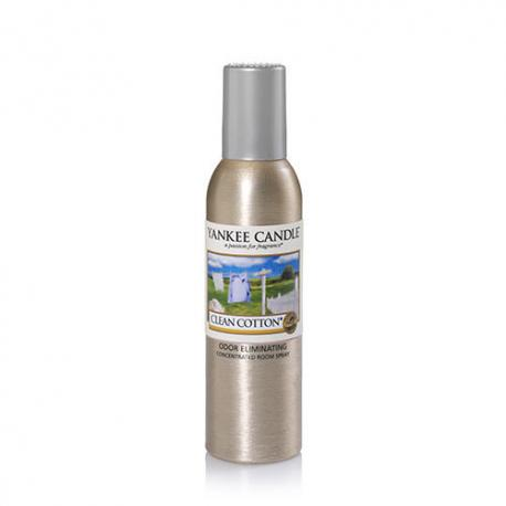 Parfum d'ambiance CLEAN COTTON Yankee Candle room spray US USA