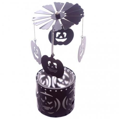 Caroussel pour lumignon CITROUILLE Halloween manège à bougie Pumpkin