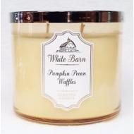Bougie parfumée 3 mèches PUMPKIN PECAN WAFFLES Bath & Body Works candle US USA White Barnes