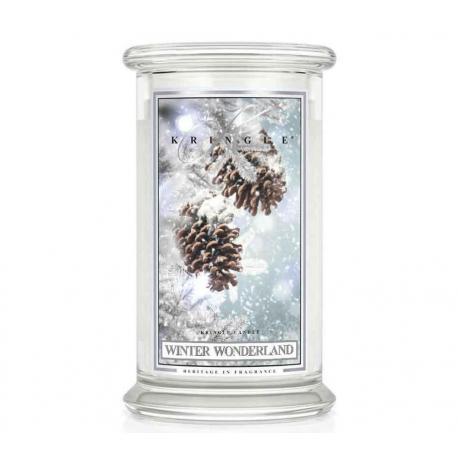 Bougie parfumée Grande Jarre 2 mèches WINTER WONDERLAND Kringle Candle US USA