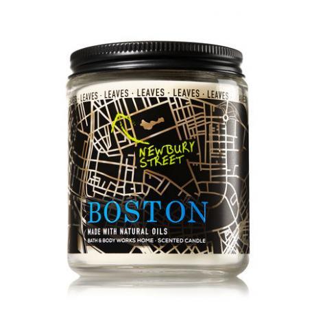 Bougie parfumée moyenne BOSTON - LEAVES Bath and Body Works candle US USA