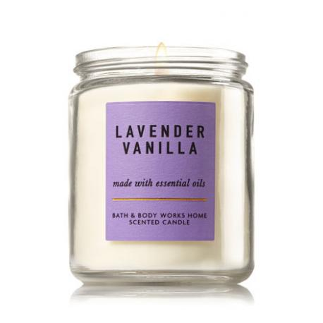 Bougie parfumée moyenne LAVENDER VANILLA Bath and Body Works candle US USA