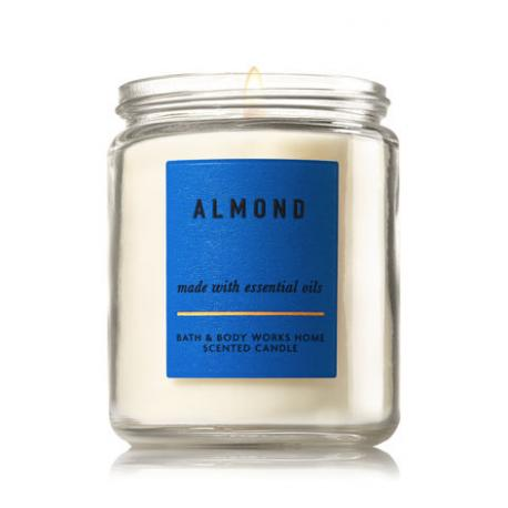 Bougie parfumée moyenne ALMOND Bath and Body Works candle US USA