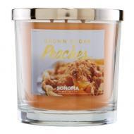 Bougie parfumée 3 mèches BROWN SUGAR PEACHES Sonoma candle US USA