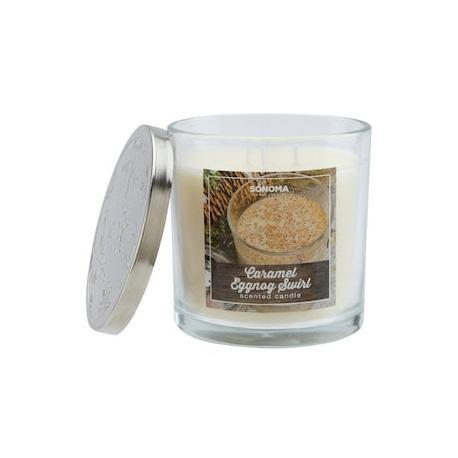Bougie parfumée 3 mèches CARAMEL EGGNOG SWIRL Sonoma candle US USA