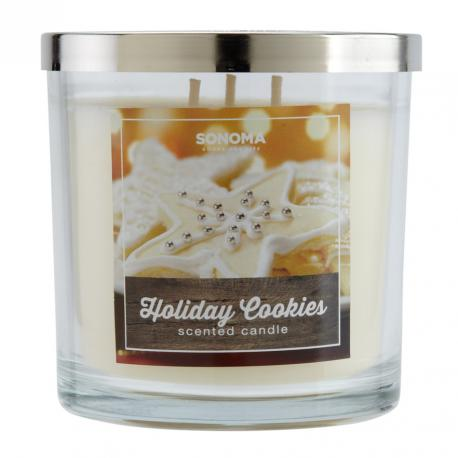 Bougie parfumée 3 mèches HOLIDAY COOKIES Sonoma candle US USA