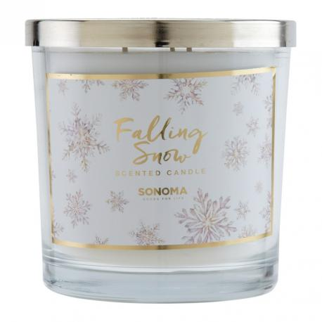 Bougie parfumée 3 mèches FALLING SNOW Sonoma candle US USA