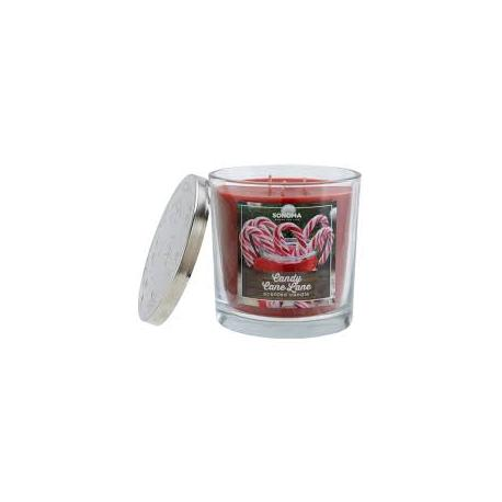Bougie parfumée 3 mèches CANDY CANE LANE Sonoma candle US USA