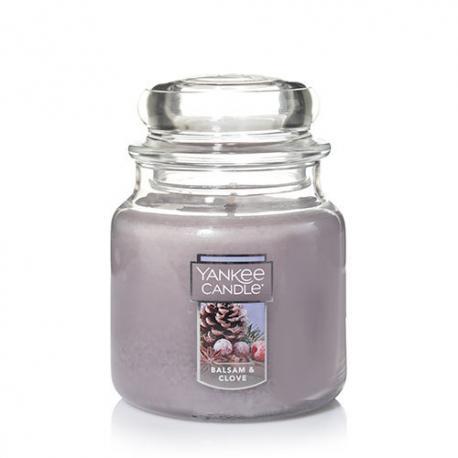 Bougie parfumée Moyenne Jarre BALSAM & CLOVE Yankee Candle exclu US USA