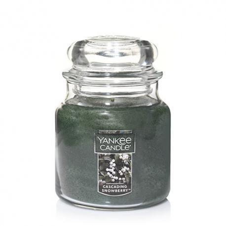 Bougie parfumée Moyenne Jarre CASCADING SNOWBERRY Yankee Candle exclu US USA