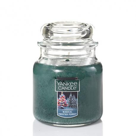 Bougie parfumée Moyenne Jarre MAGICAL FROSTED FOREST Yankee Candle exclu US USA