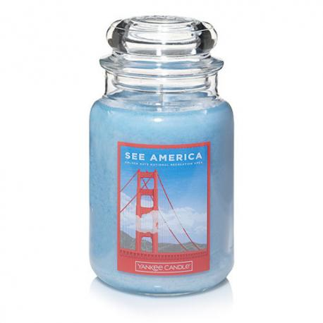 Bougie parfumée Grande Jarre GOLDEN GATE NATIONAL RECREATION AREA Yankee Candle See America exclu US USA