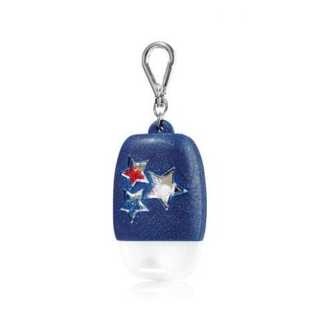 Pocketbac Holder AMERICANA SPARKLY STARS Bath and Body Works porte gel antibactérien US USA