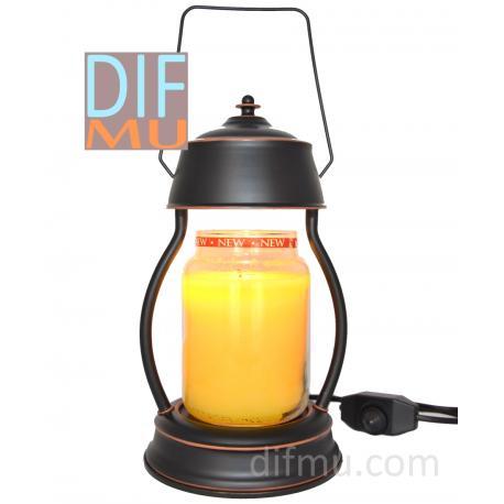 Lampe chauffante pour bougie LANTERNE NOIRE OLD SCHOOL