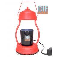 Lampe chauffante pour bougie LANTERNE ROUGE