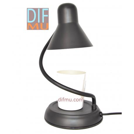 Lampe chauffante pour bougie LANTERNE TWIST NOIR