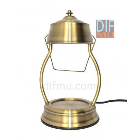 Lampe chauffante pour bougie LANTERNE OR NOIR