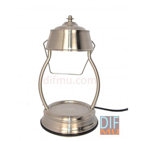 Lampe chauffante pour bougie LANTERNE ARGENT