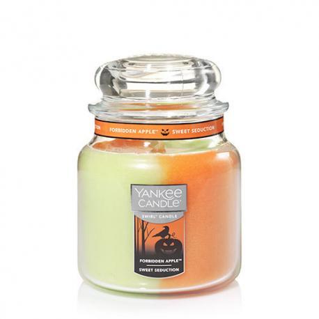 Bougie parfumée Moyenne Jarre Swirl FORBIDDEN APPLE / SWEET SEDUCTION Yankee Candle HALLOWEEN exclu US 2017