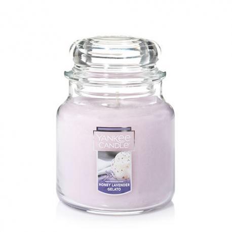 Bougie parfumée Moyenne Jarre HONEY LAVENDER GELATO Yankee Candle exclu US USA