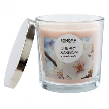 Bougie 3 mèches CHERRY BLOSSOM Sonoma Made in USA