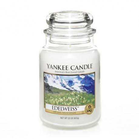 Bougie parfumée Grande Jarre EDELWEISS Yankee Candle exclu US USA