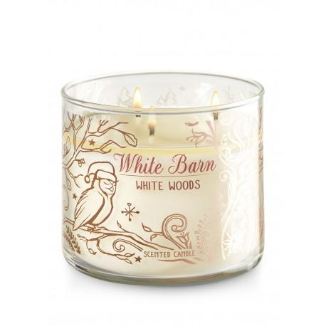 Bougie 3 mèches WHITE WOODS Bath and Body Works