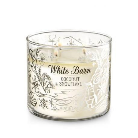 Bougie 3 mèches COCONUT SNOWFLAKE Bath and Body Works FRANCE USA