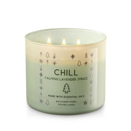 Bougie 3 mèches CHILL LAVENDER SPRUCE Bath and Body Works