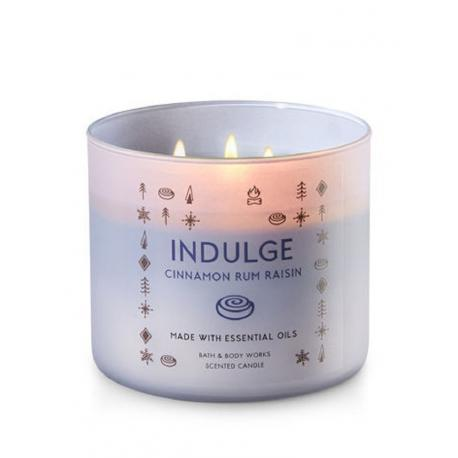 Bougie 3 mèches INDULGE CINNAMON RUM RAISIN Bath and Body Works