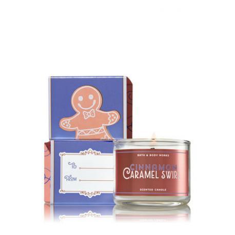 Mini bougie CINNAMON CARAMEL SWIRL Bath and Body Works candle US USA