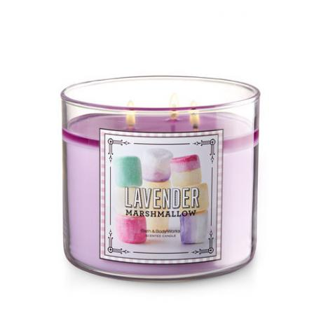 Bougie 3 mèches LAVENDER MARSHMALLOW Bath and Body Works France