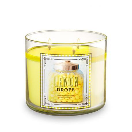 Bougie 3 mèches LEMON DROPS Bath and Body Works USA FRANCE