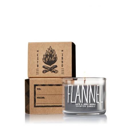 Mini bougie parfumée FLANNEL Bath and Body Works candle US USA