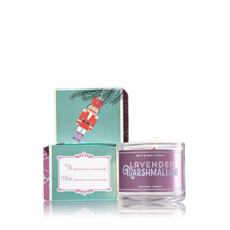Mini bougie parfumée LAVENDER MARSHMALLOW Bath and Body Works candle US USA