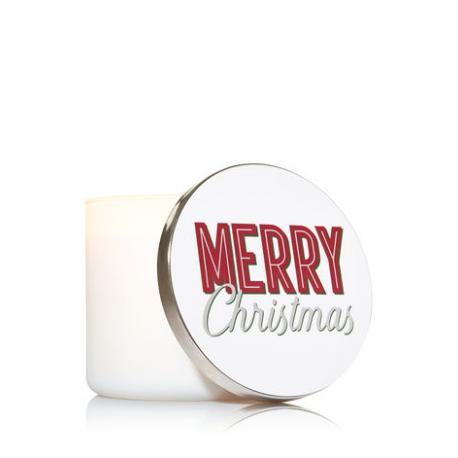 Magnet Lid MERRY CHRISTMAS pour Bougie 3 mèches Bath and Body Works France