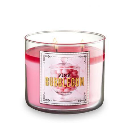 Bougie parfumée 3 mèches PINK BUBBLEGUM Bath and Body Works US USA