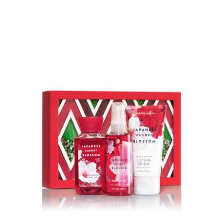 Gift Set JAPANESE CHERRY BLOSSOM GLITTER Bath and Body Works idée cadeau coffret US USA