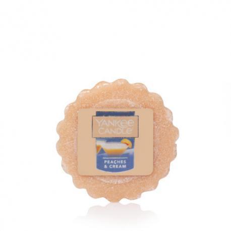 Tartelette de cire parfumée PEACHES & CREAM Yankee Candle exclu US USA