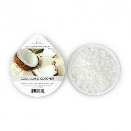 Cire parfumée COOL ISLAND COCONUT Elixir Candle Goose Creek US USA Meltcup