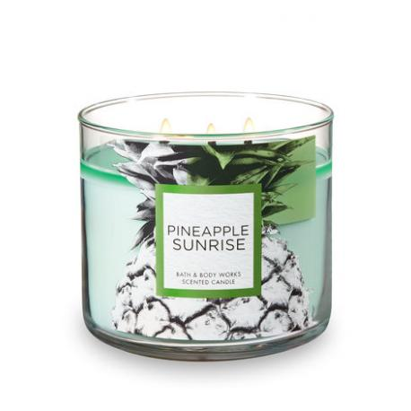 Bougie parfumée 3 mèches PINEAPPLE SUNRISE Bath and Body Works candle US USA