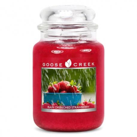 Grande Jarre 2 mèches RAIN DRENCHED STRAWBERRY Goose Creek Candle
