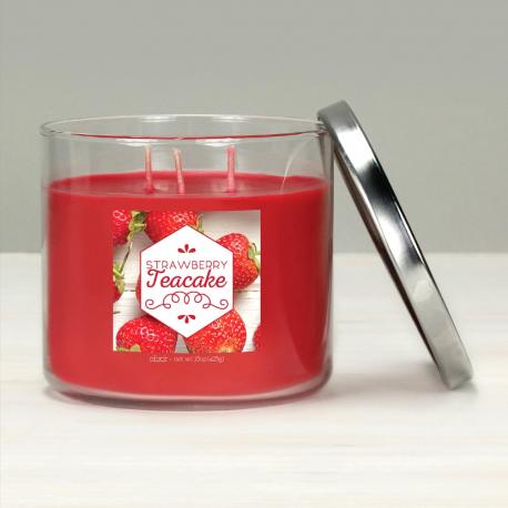 Bougie 3 mèches STRAWBERRY TEACAKE Elixir Candle Made in USA