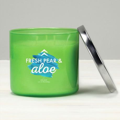Bougie 3 mèches FRESH PEAR AND ALOE Elixir Candle