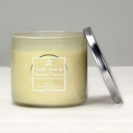 Bougie 3 mèches DARK RUM AND TOASTED PECANS Elixir Candle