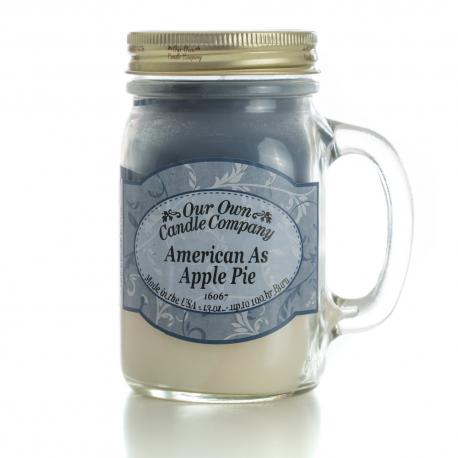 Mason Jar AMERICAN AS APPLE PIE Our Own Candle Company