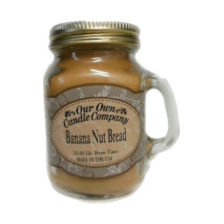 Mini Mason Jar BANANA NUT BREAD Our Own Candle Company MADE IN USA