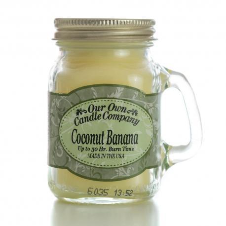Mini Mason Jar COCONUT BANANA Our Own Candle Company MADE IN USA