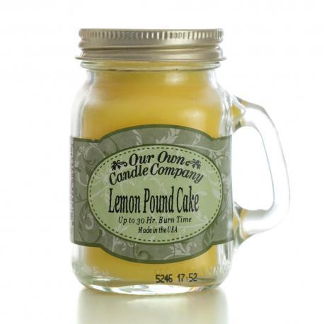 Mini Mason Jar LEMON POUNDCAKE Our Own Candle Company MADE IN usa